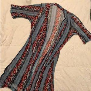 Aztec print kimono!